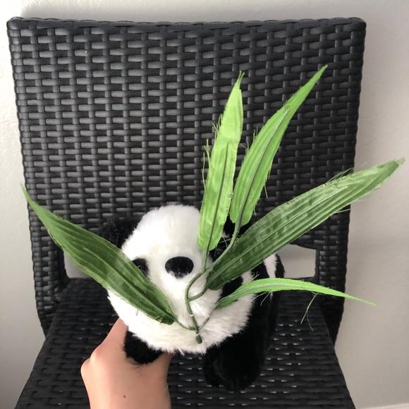 panda with bamboo plush stuffed animal toy